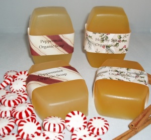 Organic Holiday Soaps